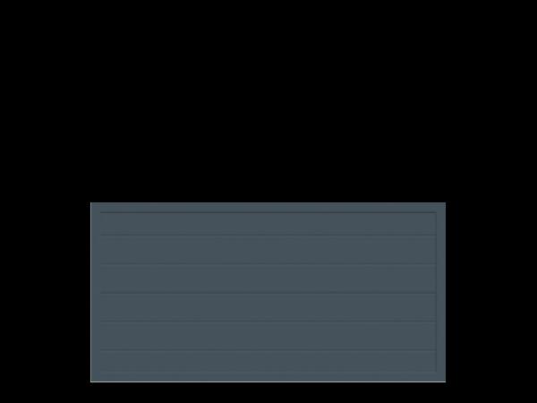 Alu-Sichtschutz rechteckig B = 1,80 x H = 0,90 m