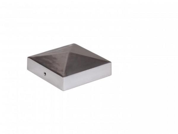 Pfostenkappe Pyramide Edelstahl für Resysta-Pfosten 87x87mm
