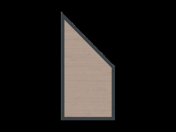 Alu-Resysta-Sichtschutz Abschluss B = 0,90 x H = 1,80/0,90 m