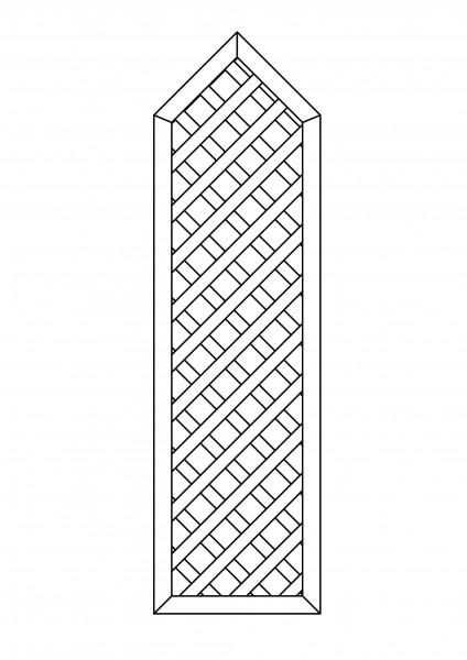 Rankgitter rechteckig, mit Spitze, B = 0,75 x H = 1,80 / 2,175 m