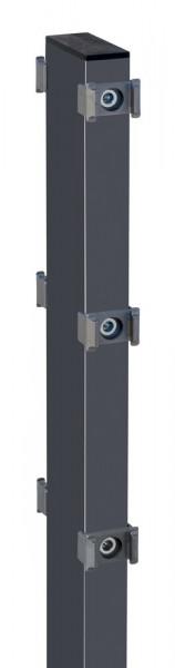 Gabionen-Doppelpfosten für Zaunhöhe 1030mm Anthrazit