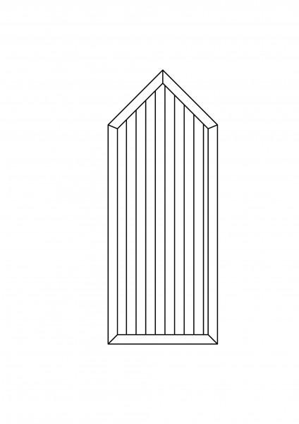 Sichtschutz-Element mit Spitze B = 0,75 x H = 1,50/1,875 m