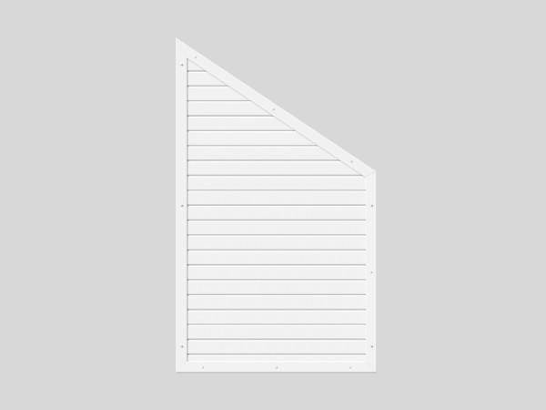 Sichtschutz mit Schräge B = 0,90 x H = 1,50/0,90 m