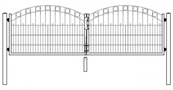Tor WIEN 2-flügelig H=0,80 m LW=3,30 m RAL7016