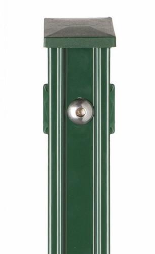 Pfosten Typ P-fix für Zaunhöhe 1,60 m RAL 6005