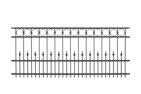 Schmiedezaun Typ DRESDEN L=200 cm Grau