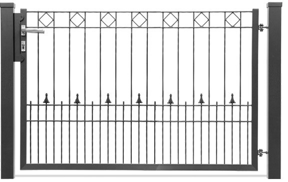Schmucktor PARIS 1-flgl. H=1,00 m, B=1,63 m RAL 6005