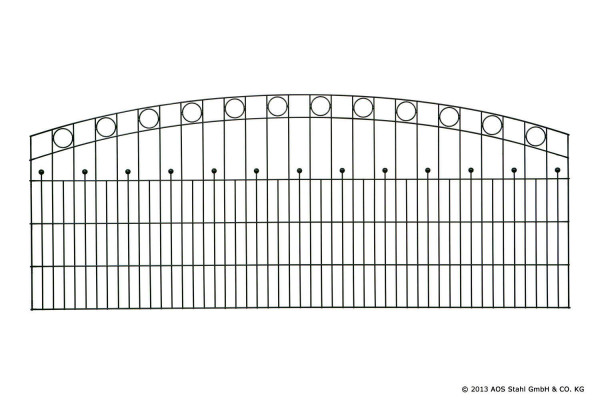 Schmuckzaun WIEN H=1,40m RAL7016