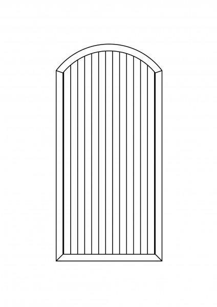 Sichtschutz-Element mit Bogen oben B = 1,00 x H = 1,80/2,05 m