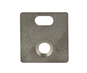 Mauerplatte 55 x 60 mm RAL pulverbeschichtet, (Befestigung am Torpfosten)