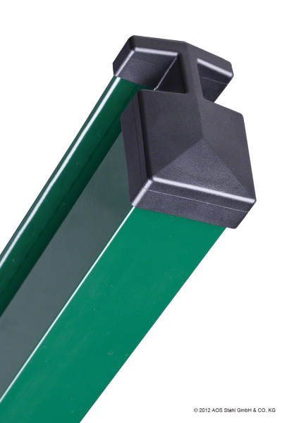 Pfosten Typ HP (MA) für Zaunhöhe 0,60 m RAL6005