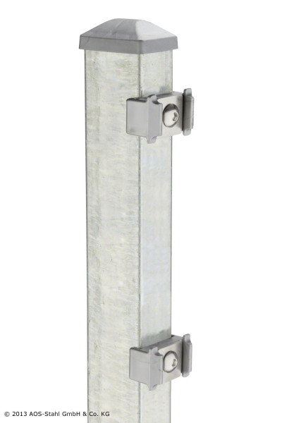 Pfosten Typ PM für Zaunhöhe 1,80 m, verzinkt