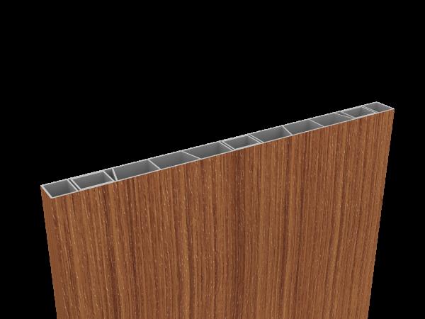 Palisaden-Sichtschutz 500 x 35mm Streifen-Douglasie, inkl Abschlusskappe
