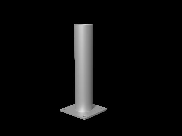 Resysta-Pfostenkonsole, verzinkt, Länge 20 cm zum Aufdübeln
