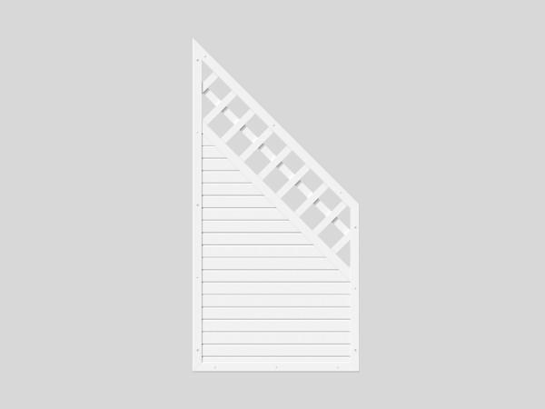 Sichtschutz Kombi-Element mit Schräge B = 0,90 x H = 1,80 / 0,90 m