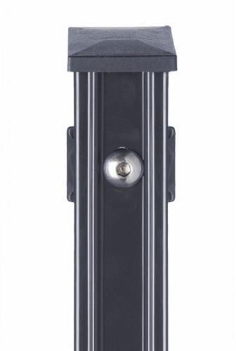 Pfosten Typ P-fix für Zaunhöhe 1,23 m RAL 7016