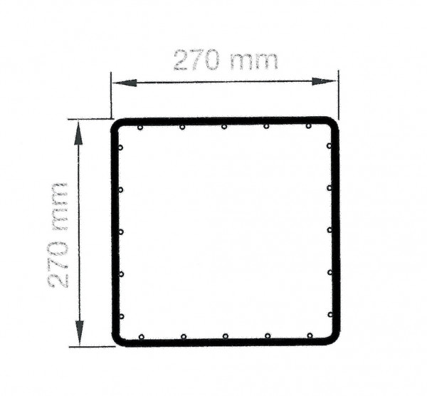 RUBIN quadratisch 27 cm, Höhe 1400 mm verzinkt