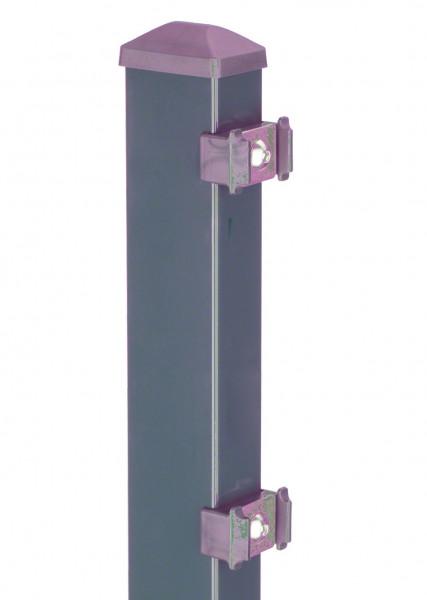 Pfosten Typ PM für Zaunhöhe 1,60 m RAL7016