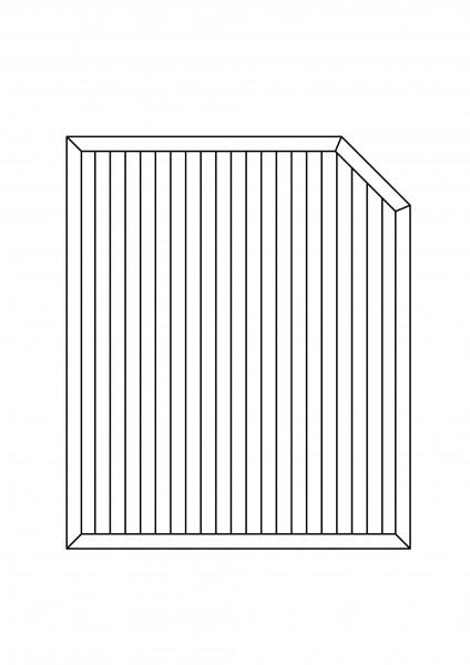 Sichtschutz-Element mit 1 Schräge, B = 1,50 x H = 1,80/150 m