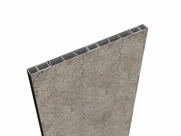 Palisaden-Sichtschutz 500 x 35mm Granit Optik, inkl Abschlusskappe
