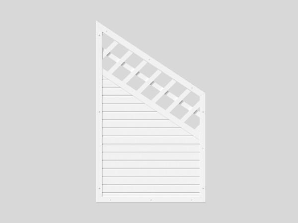 Sichtschutz Kombi-Element mit Schräge B = 0,90 x H = 1,50 / 0,90 m