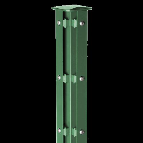 Austausch - Eckpfosten Typ A für Zaunhöhe 2,00 m RAL6005