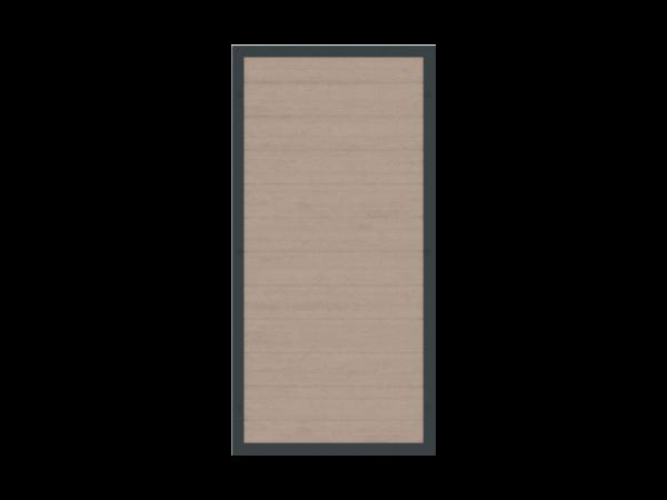 Alu-Resysta-Sichtschutz rechteckig B = 0,90 x H = 1,80 m