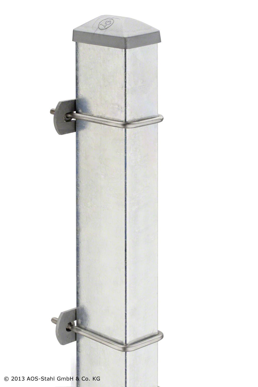 Pfosten Typ U für Zaunhöhe 2 00 m verzinkt Typ U