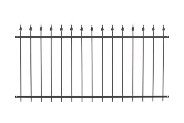 Schmiedezaun Typ BERLIN L=68 cm Grau