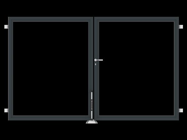 Sichtschutz-Doppeltor zweiflügelig B = 3,00 x H = 1,80 m
