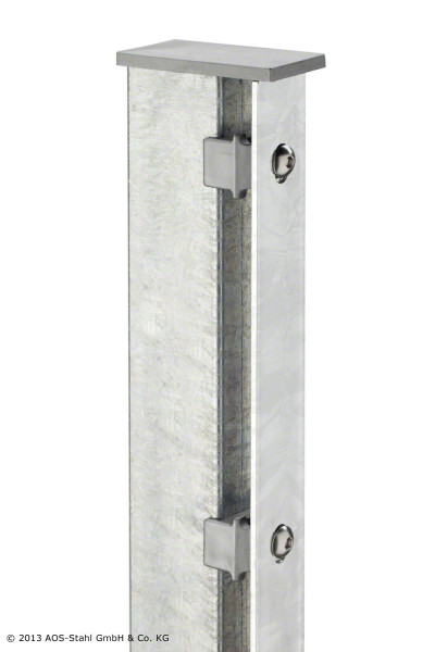 Pfosten Typ A für Zaunhöhe 1,40 m verzinkt