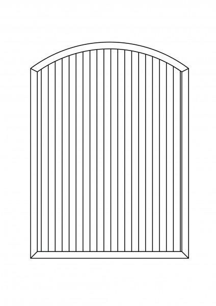 Sichtschutz-Element mit Bogen oben B = 1,50 x H = 1,80/2,05 m