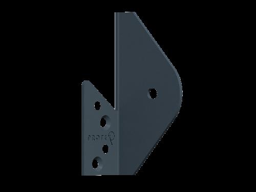 Alu-Winkelhalterung inkl. Schrauben 1 Set = 4 Stück Farbe RAL 7016