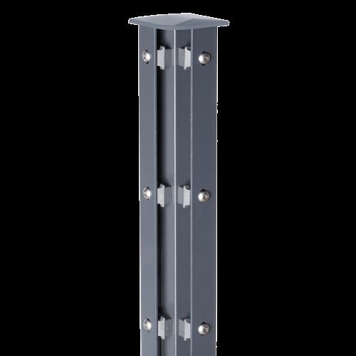 Eckpfosten Typ A für Zaunhöhe 2,40 m RAL7016