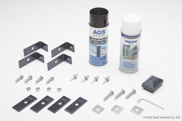 Montageset - Zink, Lack & Zubehör RAL 7016 anthrazit
