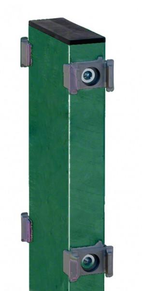 Gabionen-Doppelpfosten für Zaunhöhe 1230mm RAL 6005