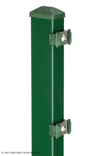Pfosten Typ PM für Zaunhöhe 1,00 m RAL6005