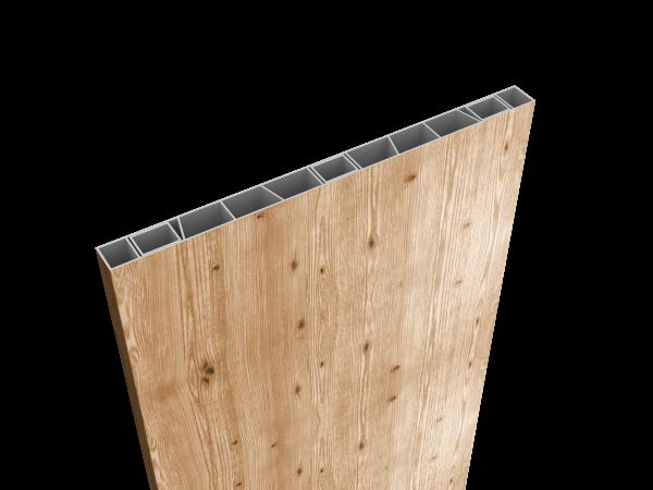 Palisaden-Sichtschutz 500 x 35mm Sibirische Lärche, inkl Abschlusskappe