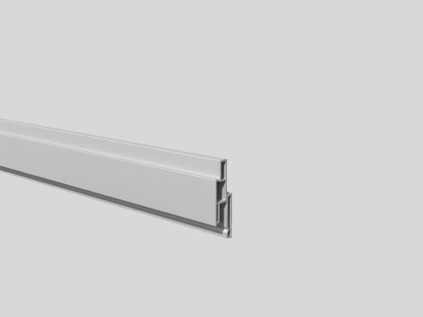 Nut-Profil 25 mm, 1,4 x 2, 5 cm, Länge 180 cm Silbergrau