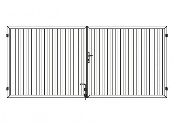 Sichtschutz-Doppeltor rechteckig B = 4,00 x H = 1,80 m