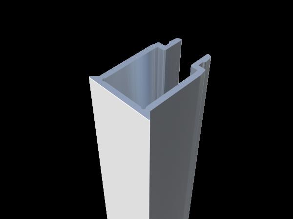 Alu-Pfostenabdeckleiste (19 x 25 mm)