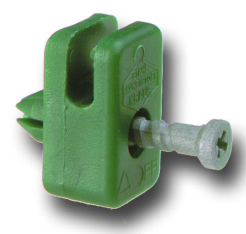 Spanndrahthalter DR40 mit Stift bis Draht Ø 3,5 mm