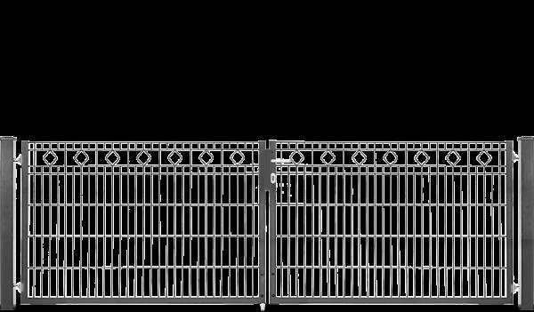 Schmucktor BARCELONA 2-flügelig H=1,00 m, LW=3,30 m RAL6005