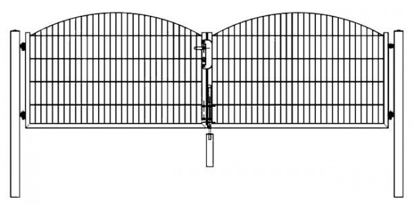 Tor SYDNEY / INNSBRUCK 2-flügelig H=1,20 m LW=3,30 m RAL6005