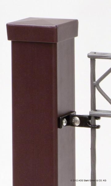 Pfosten Typ LP80 für Zaunhöhe 0,80 m Silber RAL9006