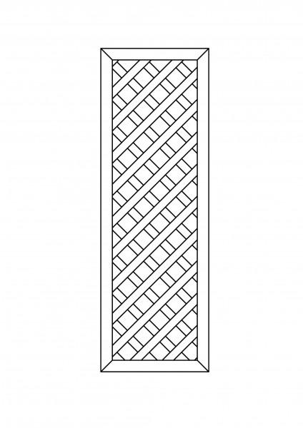 Rankgitter rechteckig B = 0,60 x H = 1,80 m