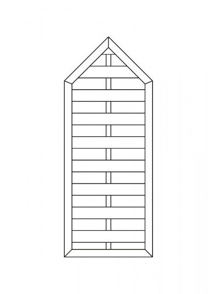 Flechtzaun mit Spitze, B = 0,75 x H = 1,80 / 1,875 m