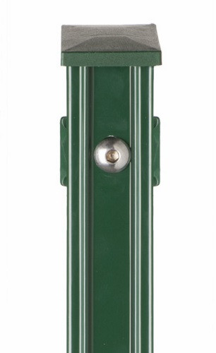 Pfosten Typ P-fix für Zaunhöhe 2,00 m RAL 6005