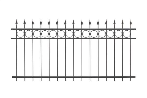 Schmiedezaun Typ WEIMAR H=1,00 m B=0,68 m Grau