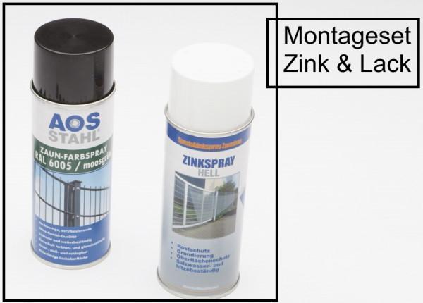Montageset - Zink & Lack RAL 6005 moosgrün